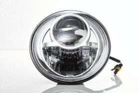 Фарове Bi- LED 7 инча ( 177 mm. ) Хром G-class W463, W461 / Jeep / Land Rover Defender ...